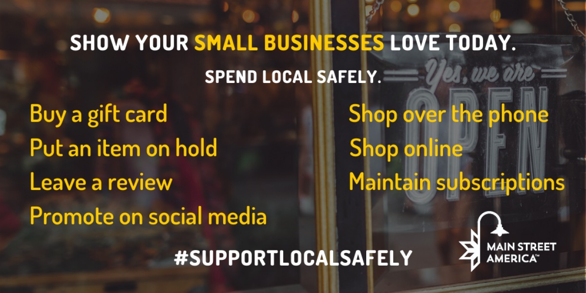 support local business safely